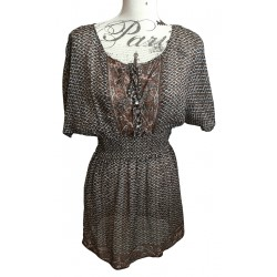 WISH bohemian silk dress