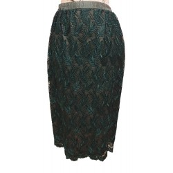 Liz Davenport green lace skirt