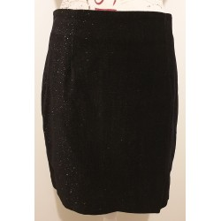 Events black velvet silver sparkle mini skirt