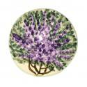 Ceramic lavender flowers brooch