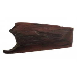 Wooden log brooch