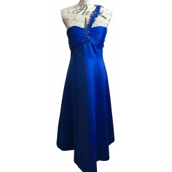 Miss Anne blue sequinned evening dress