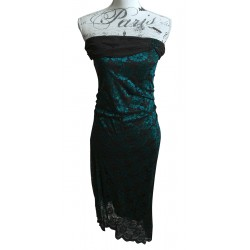 Martini stretch lace asymmetric dress