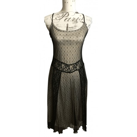 Reiss lace criss cross back evening dress