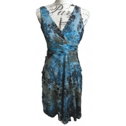 Jacquie E blue floaty silk dress