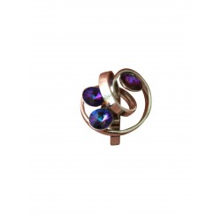 Swirly purple crystal ring