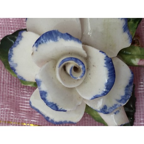Healacraft rose bone china brooch