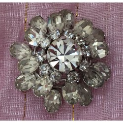 Vintage Art Deco paste crystal brooch