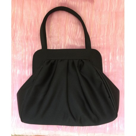 Olga Berg black evening handbag
