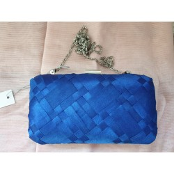 Table Eight blue clutch