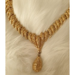 Chunky designer gold necklace