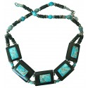 Turquoise and jasper handmade necklace