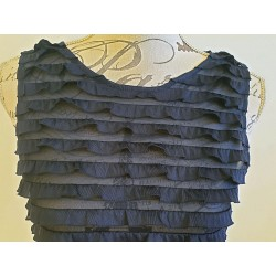 Orsay blue ruffle top