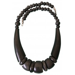 Dark brown jasper necklace