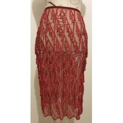 Alannah Hill burgundy lace skirt