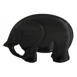 Dark acrylic elephant brooch