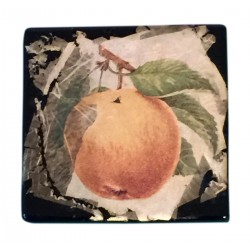 Ceramic peach brooch